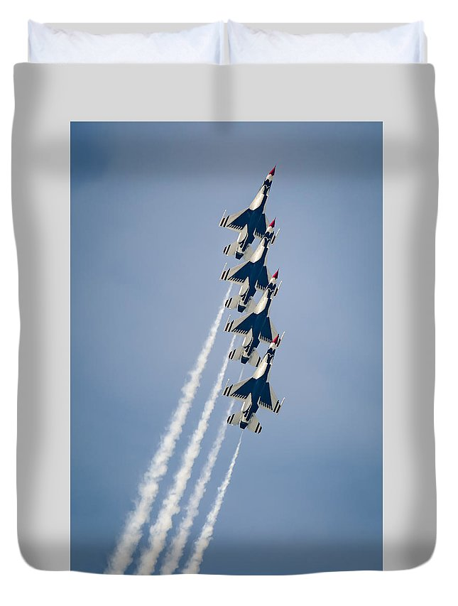 Cleveland Duvet Cover featuring the photograph 4 Up by Brad Hartig - BTH Photography