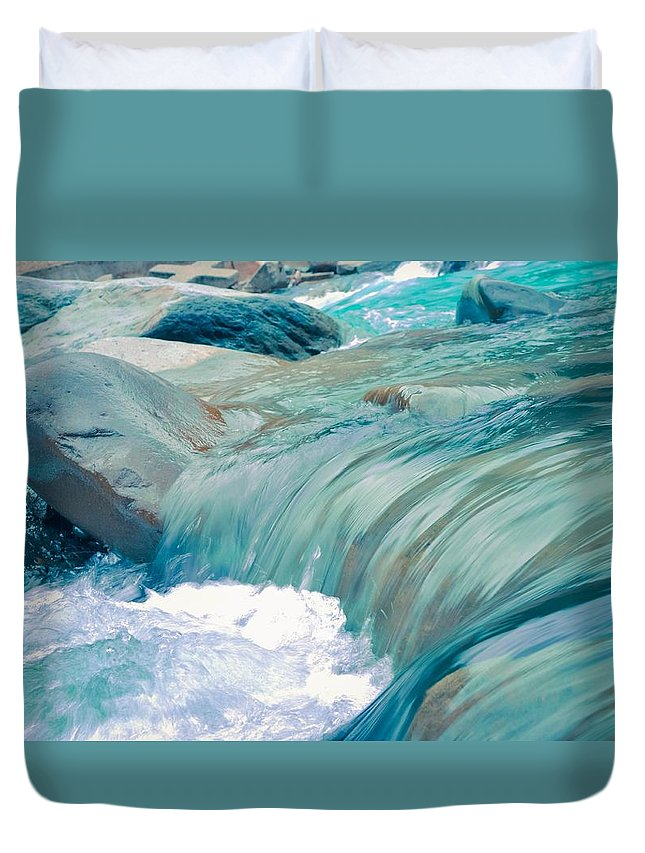 Beach Duvet Cover featuring the photograph Water by FL collection