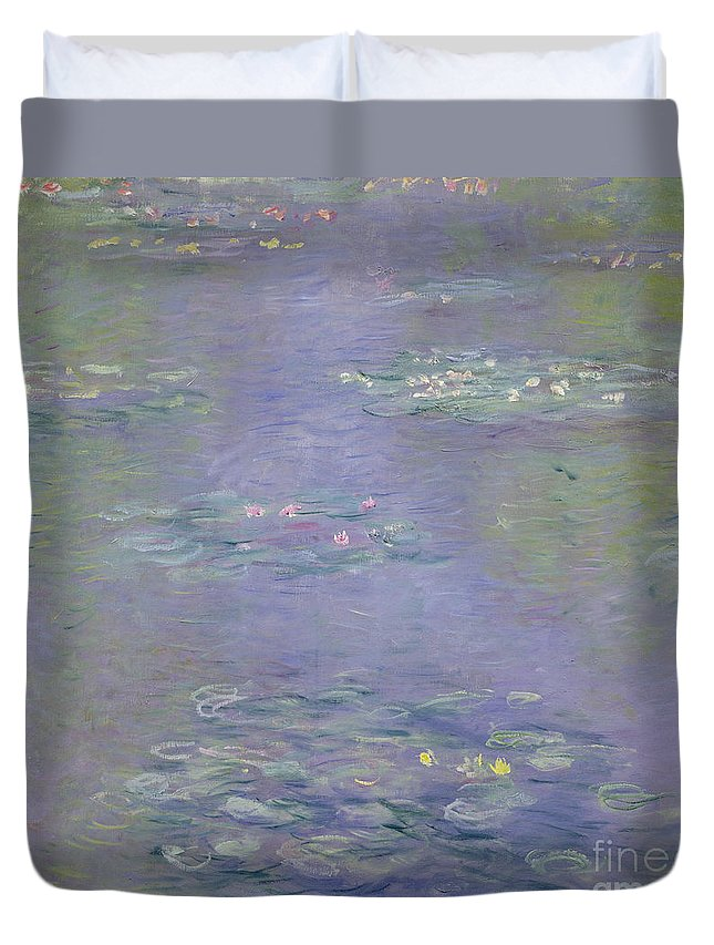 Waterlilies Duvet Cover featuring the painting Waterlilies by Claude Monet