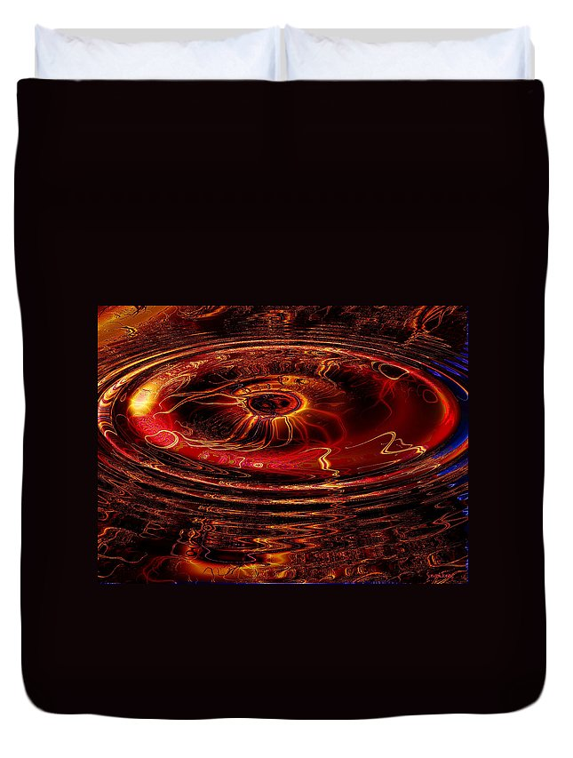 Fractal Duvet Cover featuring the digital art 40 Lashes by Robert Orinski