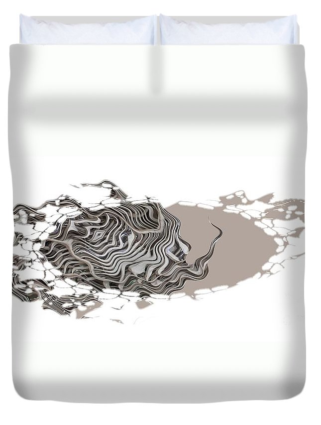 Abstract Duvet Cover featuring the digital art 401k by Ron Bissett