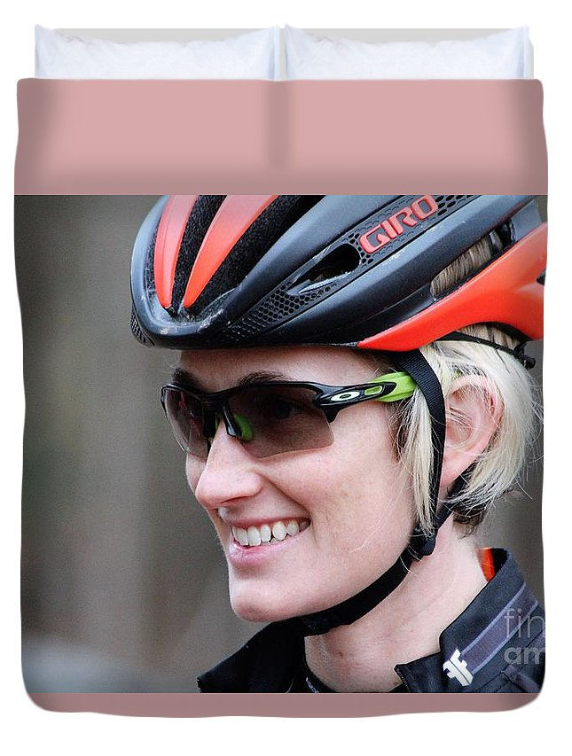 Fearless Femme Racing Duvet Cover featuring the photograph Fearless Femme Racing by Donn Ingemie