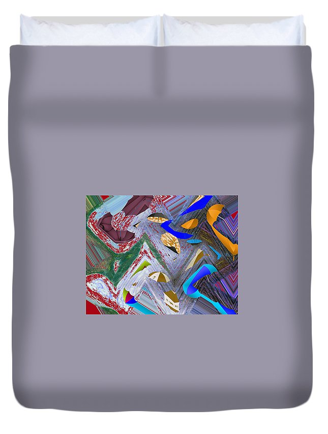 Abstract Duvet Cover featuring the digital art 44 U 172 by John Saunders