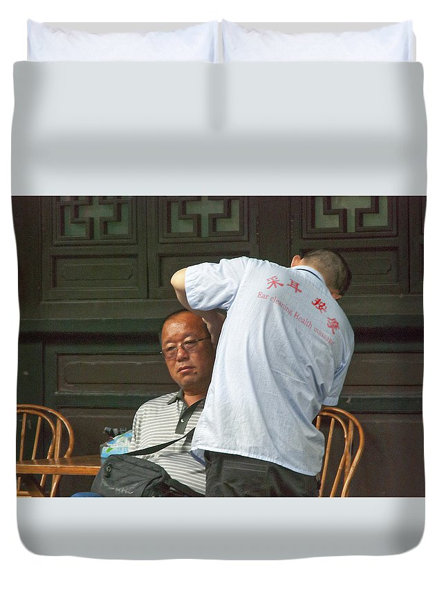 Asia Duvet Cover featuring the photograph 4648- Ear Cleaner by David Lange