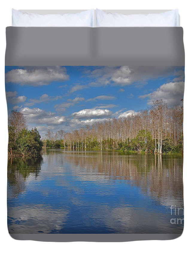 Grassy Waters Preserve Duvet Cover featuring the photograph 47- Everglades Serenity by Joseph Keane