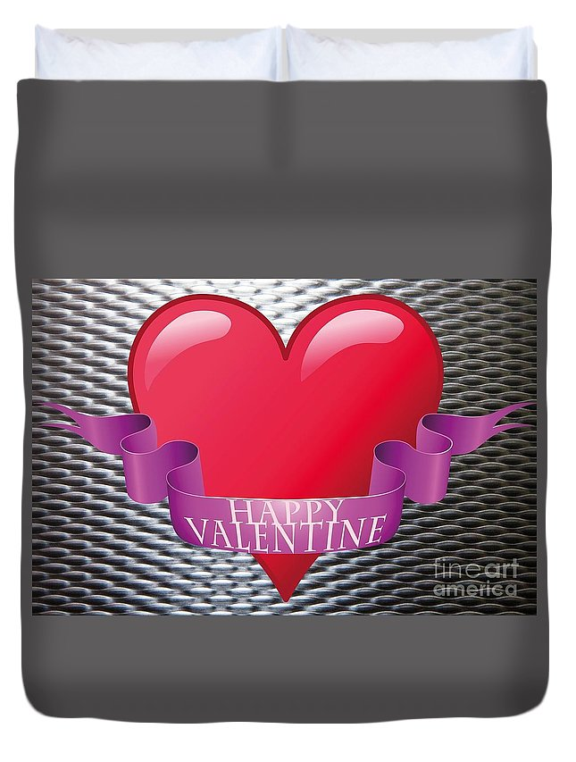 Witchcraft Duvet Cover featuring the digital art Valentine by Frederick Holiday