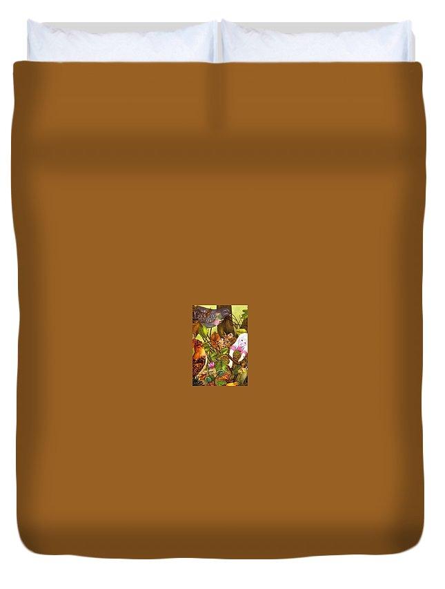Tree Duvet Cover featuring the digital art 48586 Adrienne Segur by Eloisa Mannion