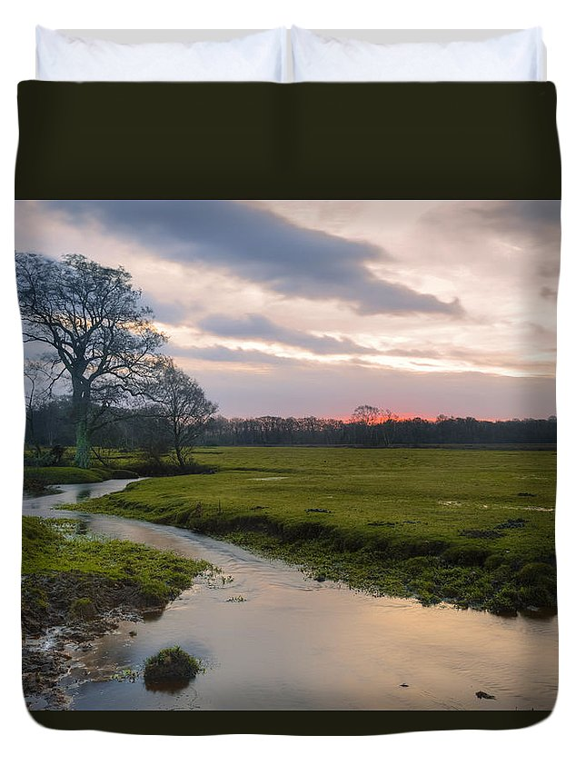 Longwater Lawn Duvet Cover featuring the photograph New Forest - England by Joana Kruse