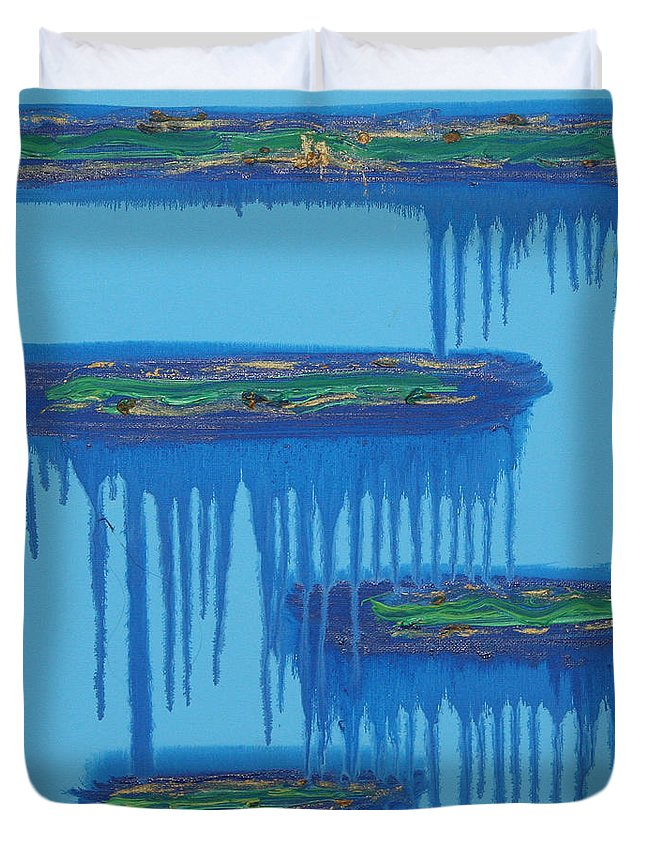 4 Levels Duvet Cover featuring the painting 4levels4fellings4you by Sitara Bruns