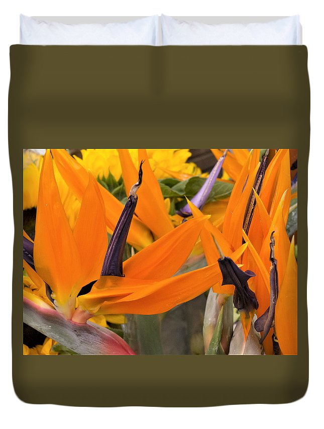 Flowers Duvet Cover featuring the photograph ,, Flowers ,, by Ricardas Marcinkevicius
