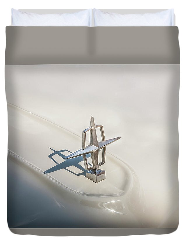 1959 Lincoln Duvet Cover featuring the photograph 1959 Lincoln Continental Town Car Mk Iv Painted by Rich Franco