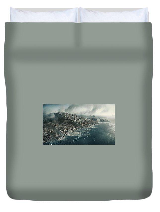 2012 2009 Duvet Cover featuring the digital art 2012 2009 by Geek N Rock