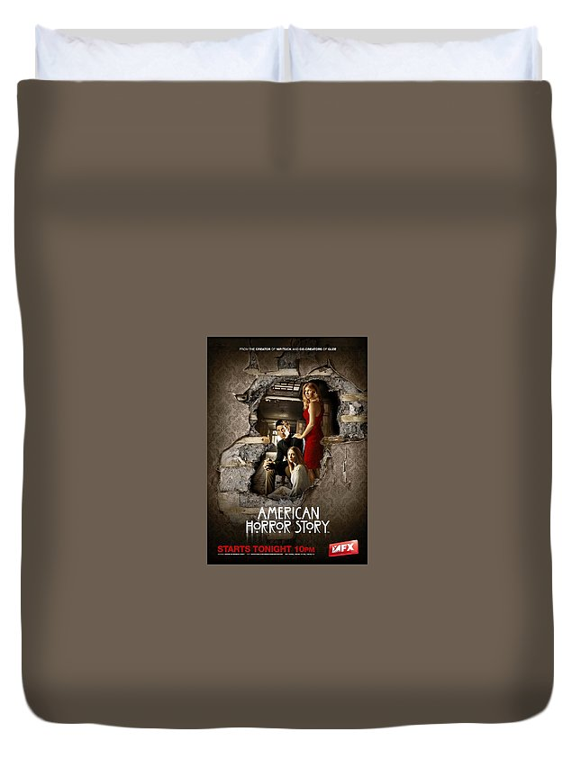 American Horror Story 2011 Duvet Cover featuring the digital art American Horror Story 2011 by Geek N Rock