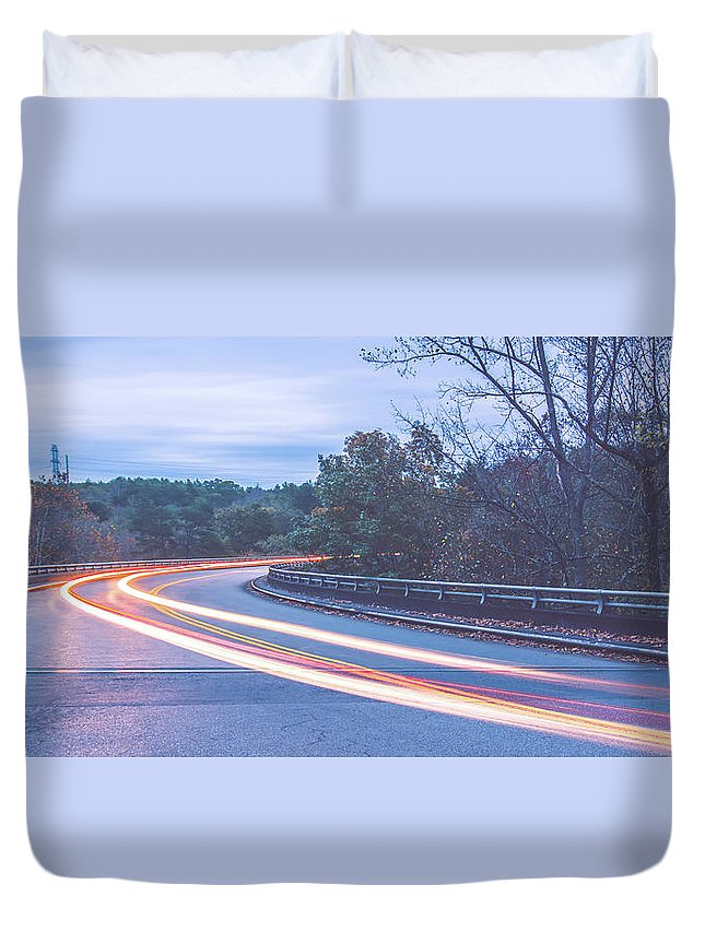 Mountain Duvet Cover featuring the photograph Beautiful Autumn Landscape In North Carolina Mountains by Alex Grichenko