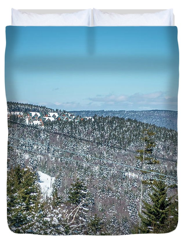 Cass Duvet Cover featuring the photograph Beautiful Nature And Scenery Around Snowshoe Ski Resort In Cass by Alex Grichenko