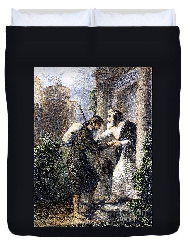Backpack Duvet Cover featuring the photograph Bunyan: Pilgrims Progress by Granger