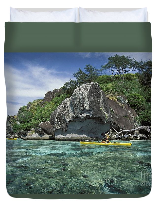 Afternoon Duvet Cover featuring the photograph Fiji, Kadavu Island by Ron Dahlquist - Printscapes