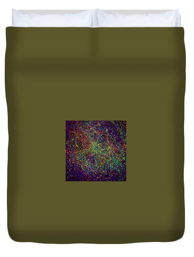 Duvet Cover featuring the digital art 5 by Hannah Liao
