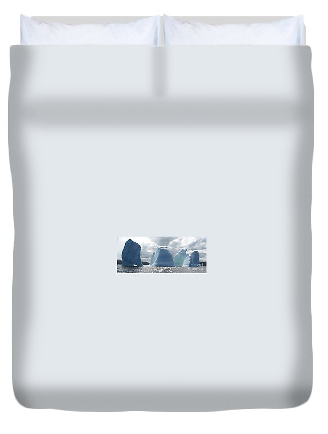Iceberg Photograph Ice Water Ocean Altantic Newfoundland Summer Duvet Cover featuring the photograph Iceberg by Seon-Jeong Kim