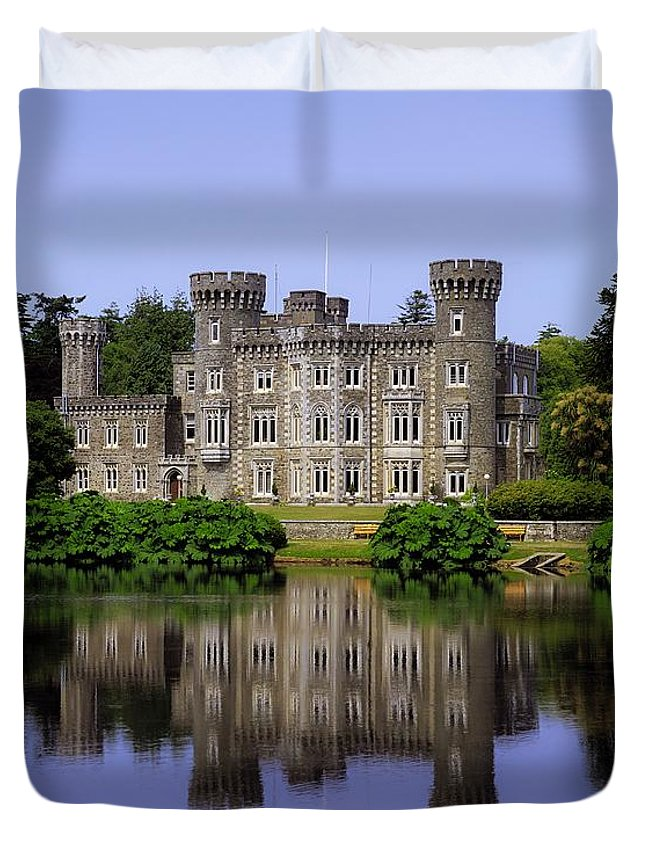 Archaeology Duvet Cover featuring the photograph Johnstown Castle, Co Wexford, Ireland by The Irish Image Collection
