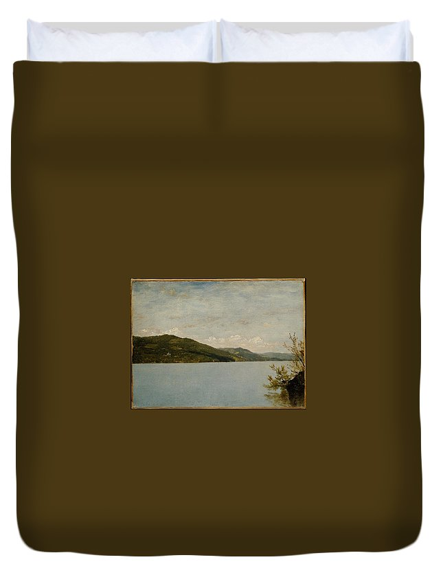 John Frederick Kensett Duvet Cover featuring the painting Lake George by John Frederick Kensett