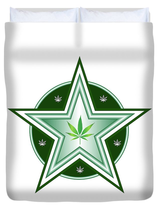 Weed Duvet Cover featuring the digital art 5 by Larry Waitz