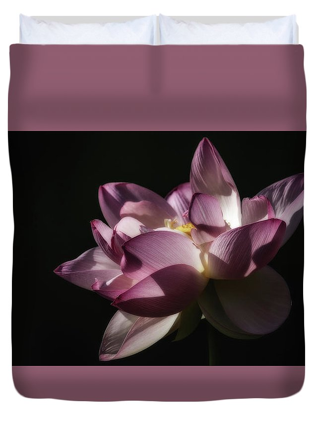 Lotus Flowers Duvet Cover featuring the photograph Lotus Blossom by Tom Stovall Sr