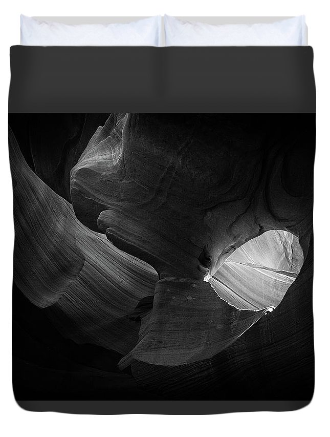 Antelope Canyon Duvet Cover featuring the photograph Lower Antelope Canyon by Alex Conu
