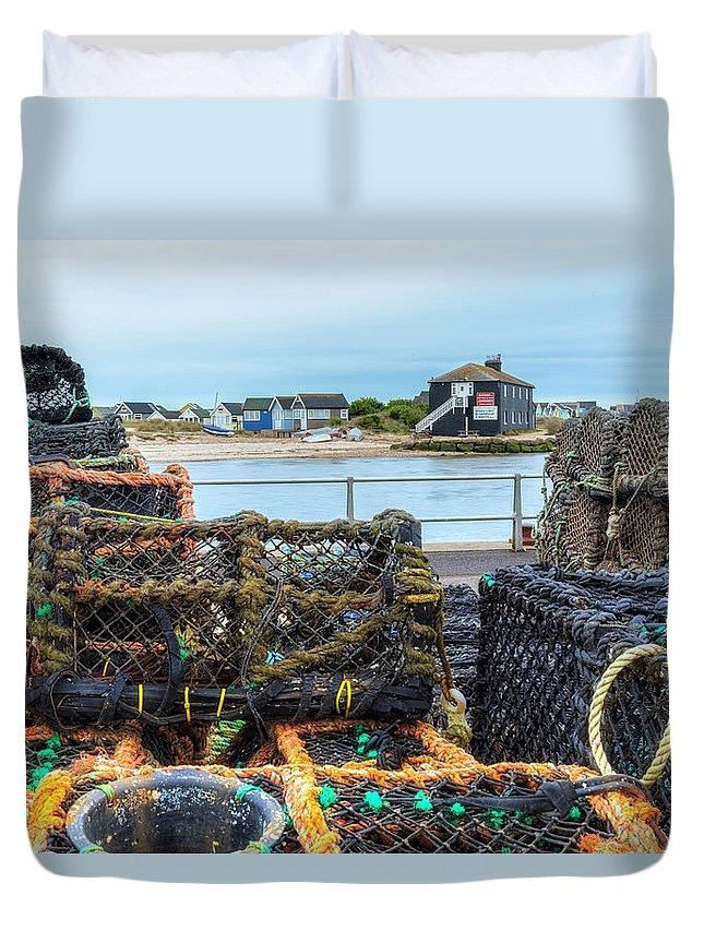 Hengistbury Head Duvet Cover featuring the photograph Mudeford - England by Joana Kruse
