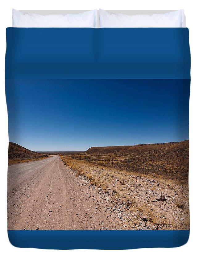 Kalahari Duvet Cover featuring the photograph Namibia Road by Davide Guidolin