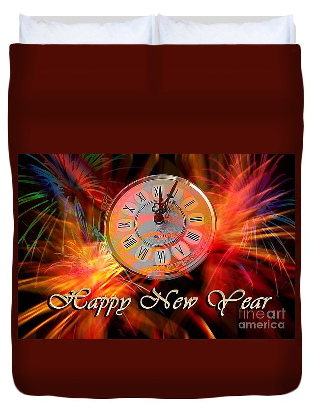 Witchcraft Duvet Cover featuring the digital art New Year by Frederick Holiday