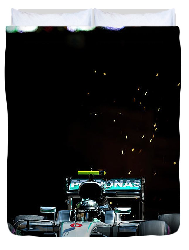 Monaco Duvet Cover featuring the photograph Nico Rosberg by Srdjan Petrovic