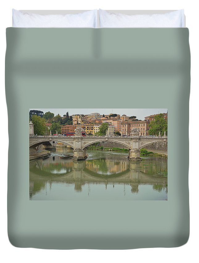 Italy Duvet Cover featuring the photograph Reflection by JAMART Photography