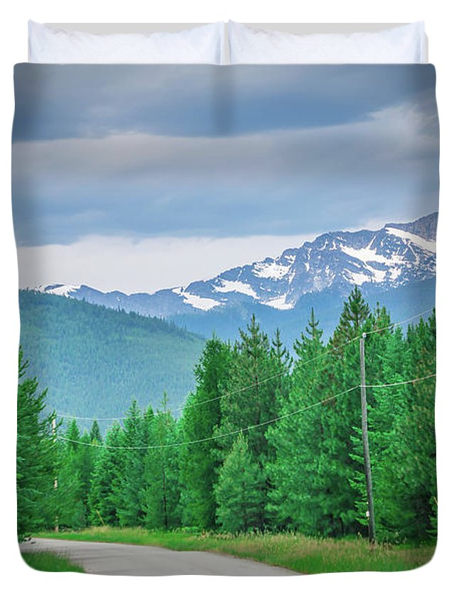 Landscape Duvet Cover featuring the photograph Vast Scenic Montana State Landscapes And Nature by Alex Grichenko