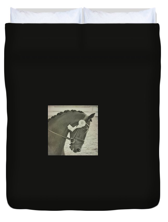 Horse Duvet Cover featuring the photograph Victory Gallop by JAMART Photography