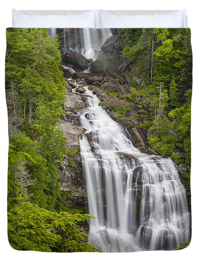 Appalachian Duvet Cover featuring the photograph Whitewater Falls by John MacLean
