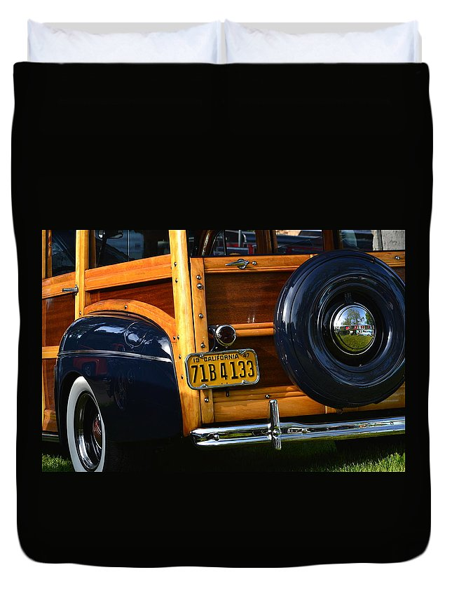 Duvet Cover featuring the photograph Woodie by Dean Ferreira