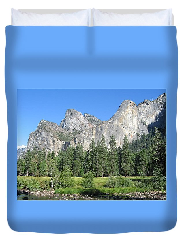 Yosemite Duvet Cover featuring the photograph Yosemite by Vicky Eliopoulos