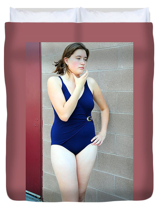 Sexy Duvet Cover featuring the photograph Sexy Female Beauty. by Oscar Williams