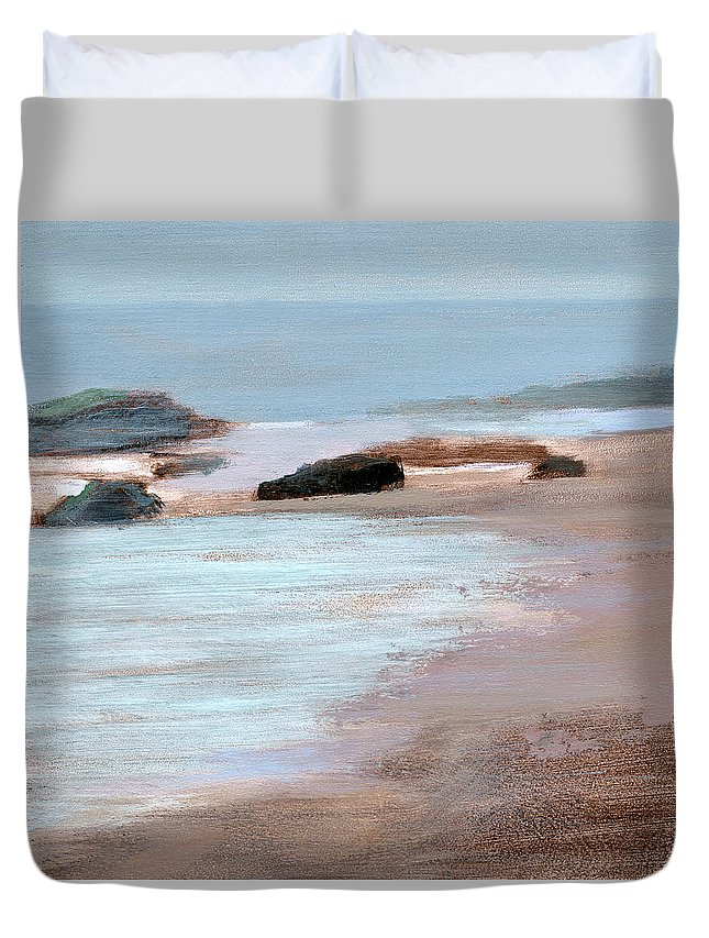 Beach Duvet Cover featuring the painting Rcnpaintings.com by Chris N Rohrbach