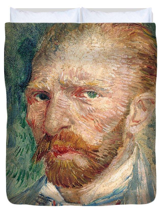 Van Gogh Duvet Cover featuring the photograph Self Portrait by Vincent Van Gogh