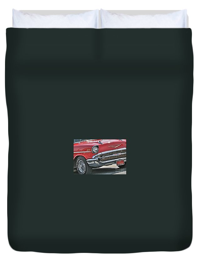 1957 Duvet Cover featuring the photograph 57 by Rick Monyahan