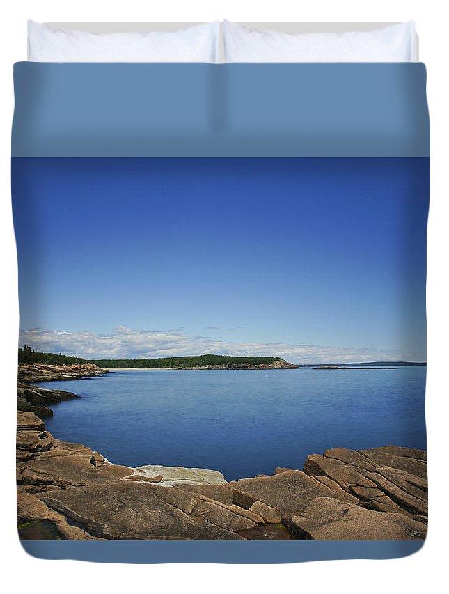 Acadia National Park Duvet Cover featuring the photograph Acadia National Park by Brian Kamprath