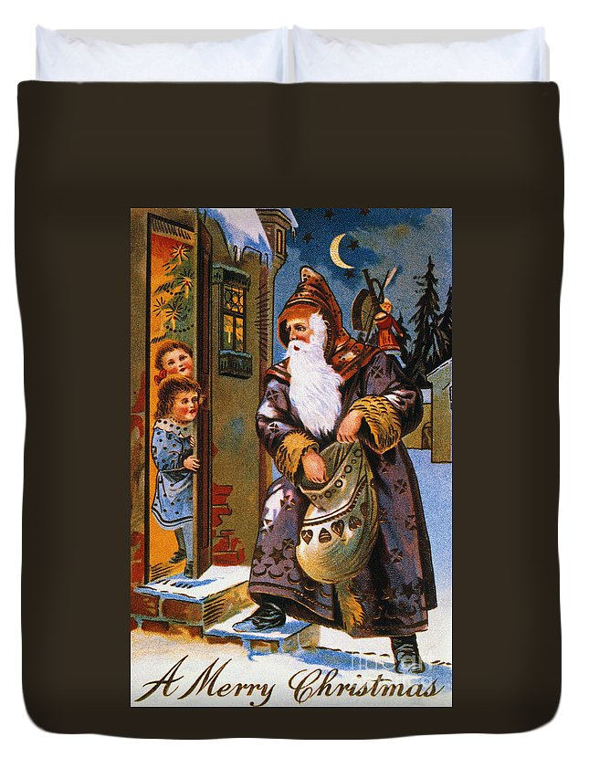 19th Century Duvet Cover featuring the photograph Christmas Card by Granger