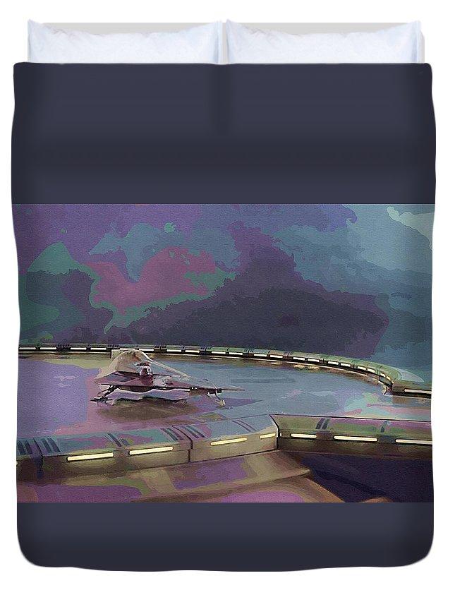 Jedi Star Wars Duvet Cover featuring the digital art Episode 2 Star Wars Poster by Larry Jones