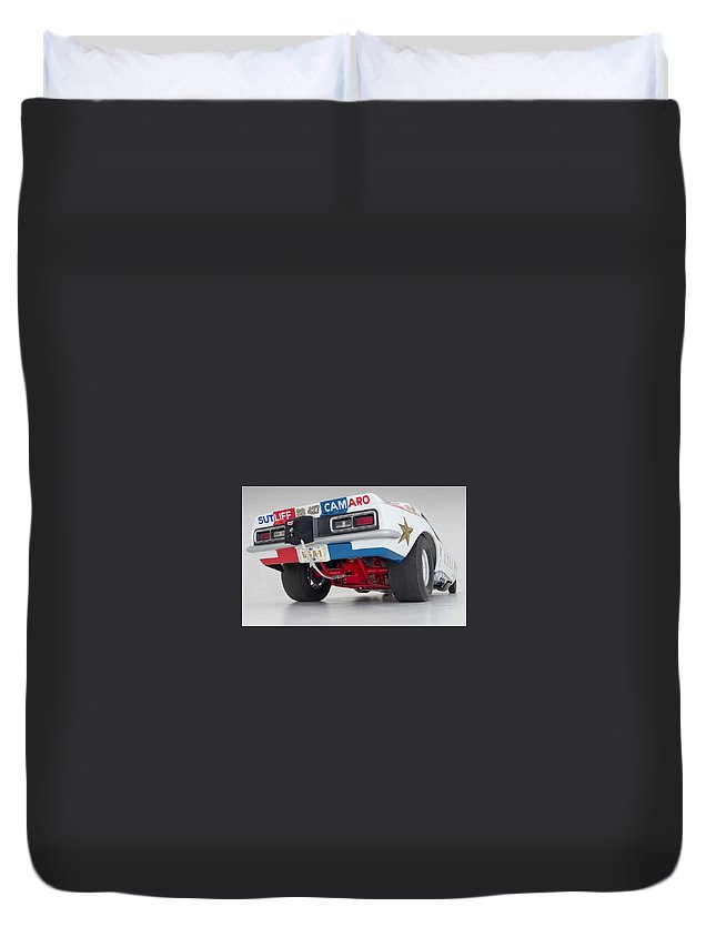 Funny Car Duvet Cover featuring the photograph Funny Car by Jackie Russo