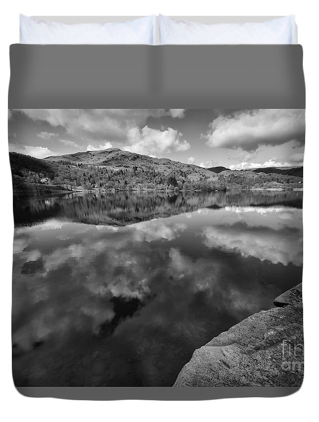 Grasmere Duvet Cover featuring the photograph Grasmere by Smart Aviation