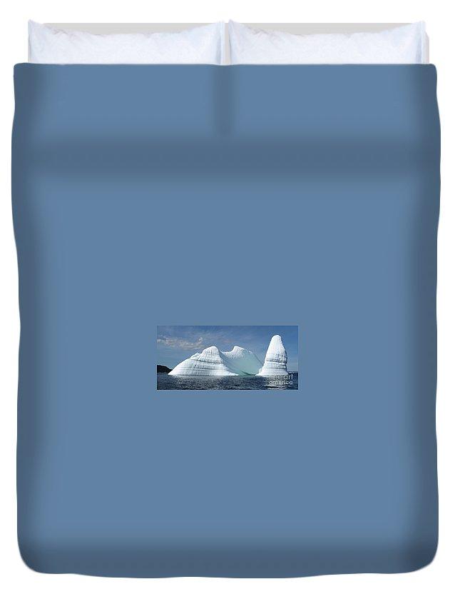 Iceberg Photograph Ice Water Ocean Sea Atlantic Summer Newfoundland Duvet Cover featuring the photograph Iceberg by Seon-Jeong Kim