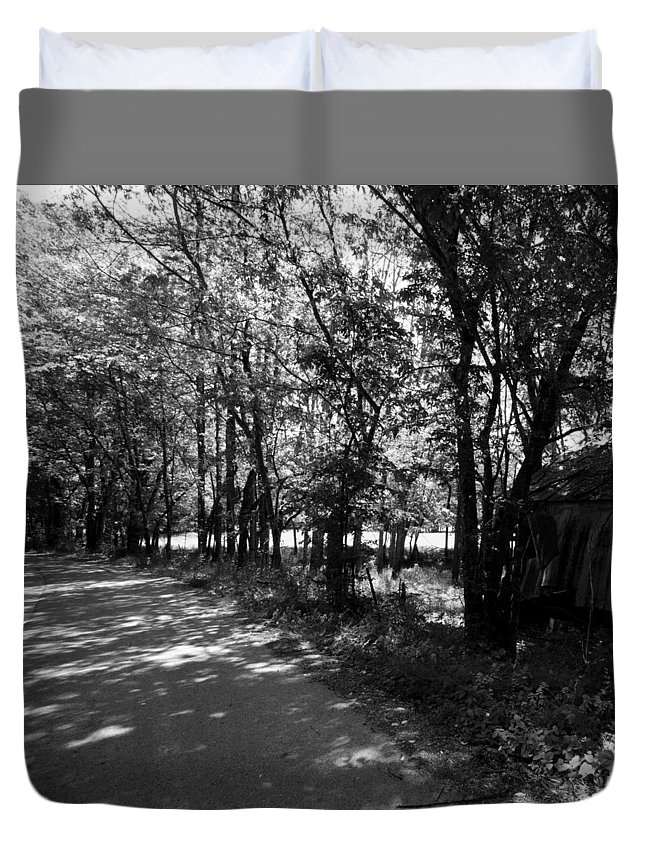 Winter Duvet Cover featuring the photograph Natchez Trail by Avril Christophe