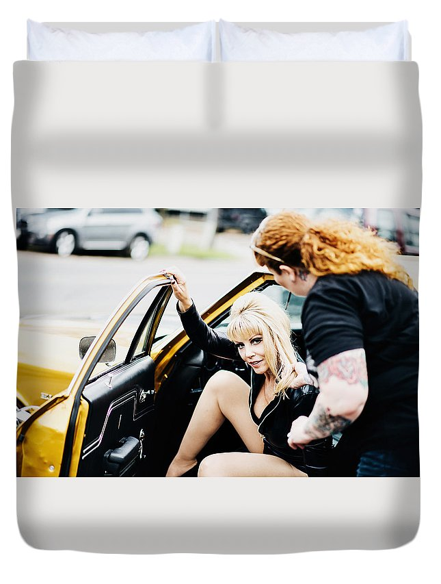 Sexy Duvet Cover featuring the photograph Pin Up #14 by Susan Sprague